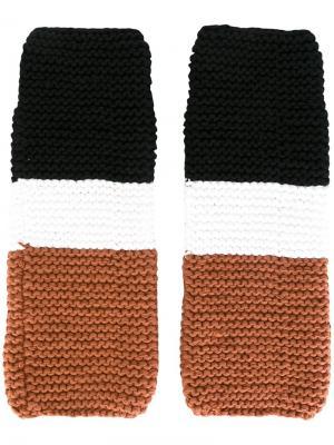 Перчатки без пальцев Telfar. Цвет: чёрный