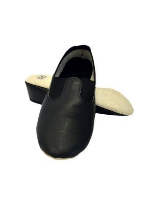 Чешки классические кожзам, черный (взрослые) Rusco. Цвет: черный