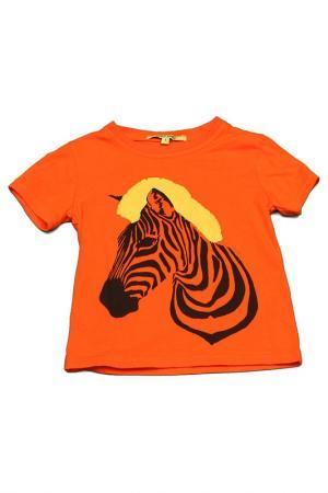 Футболка Silvian Heach. Цвет: оранжевый