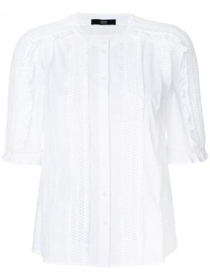 Cutout and fringe detailed blouse Steffen Schraut. Цвет: белый