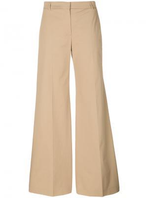 Широкие брюки Burberry. Цвет: коричневый