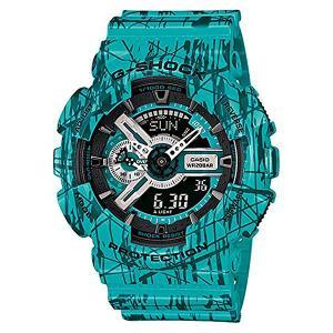 Часы  Ga-110sl-3a Blue Casio G-Shock. Цвет: голубой,зеленый