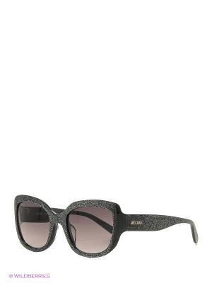 Солнцезащитные очки MO 797S 02 MOSCHINO. Цвет: черный