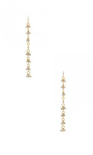 Свисающие серьги liliana Natalie B Jewelry. Цвет: металлический золотой