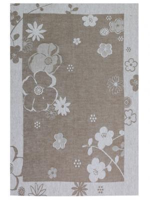 Полотенце Евдокия Белорусский Лен. Цвет: серый, темно-серый