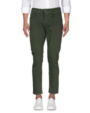 Джинсовые брюки DERRIÉRE. Цвет: зеленый-милитари