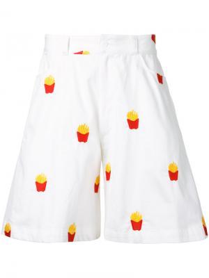 Шорты French Fries Mikio Sakabe. Цвет: белый