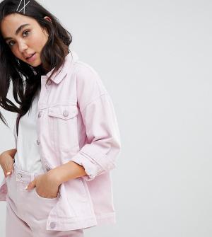 Monki Джинсовая куртка. Цвет: розовый