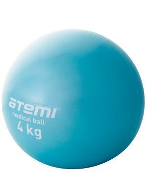 Медицинбол 4 кг Atemi. Цвет: голубой