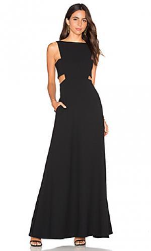 Вечернее платье с вырезом JILL STUART. Цвет: черный