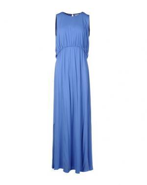 Длинное платье MARTA MARTINO. Цвет: синий