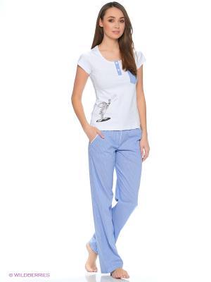 Пижама Cascatto. Цвет: голубой, белый