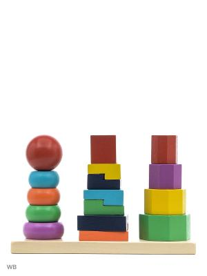Пирамидка-3 Винтик и Шпунтик. Цвет: красный, синий
