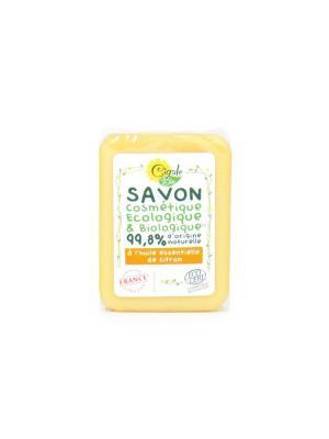 Мыло твердое CIGALE BIO с эфирным маслом Лимона 100 г. Цвет: белый