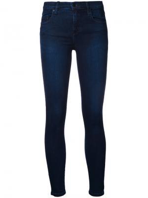 Облегающие джинсы Geo Ankle Illusion Nobody Denim. Цвет: синий