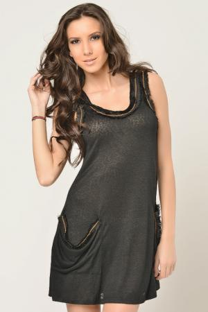 Платье Christina Dea. Цвет: черный