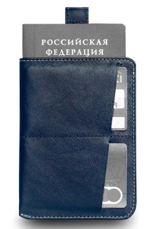 Обложка для паспорта ZAVTRA. Цвет: темно-синий