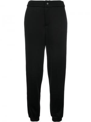 Спортивные брюки с лампасами металлик Jo No Fui. Цвет: чёрный
