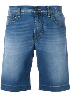 Широкие джинсовые шорты Jacob Cohen. Цвет: синий