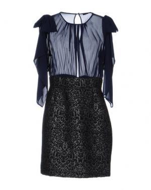 Короткое платье TRY ME. Цвет: темно-синий