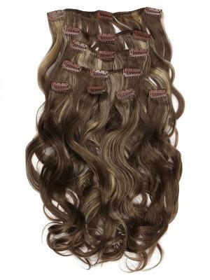 Накладные волосы, пряди на заколках-клипсах Livi VIP-PARIK. Цвет: коричневый, светло-желтый