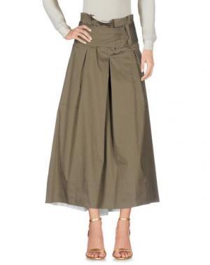 Длинная юбка GARAGE NOUVEAU. Цвет: зеленый-милитари