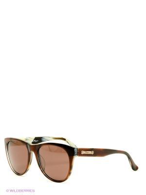 Солнцезащитные очки Salvatore Ferragamo. Цвет: темно-коричневый, молочный