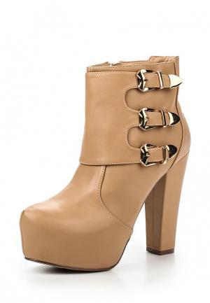 Ботильоны Style Shoes. Цвет: бежевый