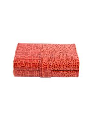 Шкатулка для ювелирных украшений CALVANI. Цвет: красный, бежевый