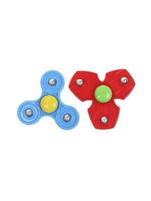 Комплект (Спиннер - 2 шт.) Happy Charms Family. Цвет: красный, голубой, зеленый