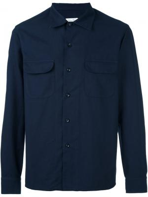 Рубашка Bryan Salvatore Piccolo. Цвет: синий