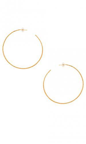 Серьги-кольца classico grande Natalie B Jewelry. Цвет: металлический золотой