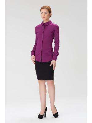 Женская блузка с прозрачной спиной INDIGIRA. Цвет: фиолетовый