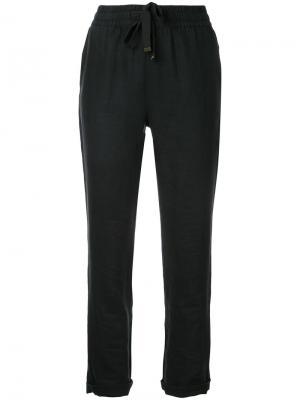 Укороченные брюки с эластичным поясом Venroy. Цвет: чёрный