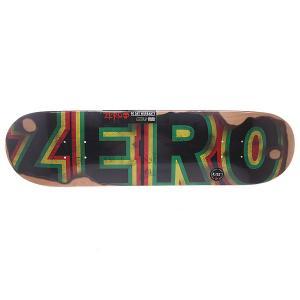 Дека для скейтборда  Burning Bold R7 Sandoval 31.7 x 8.125 (20.6 см) Zero. Цвет: зеленый,черный,желтый,красный
