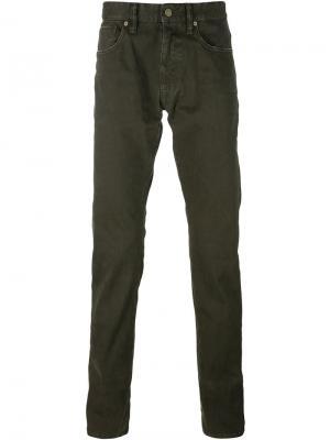 Зауженные брюки Sky Incotex. Цвет: коричневый