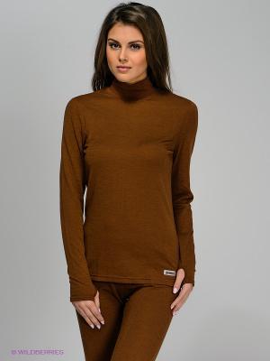 Джемпер-термобелье Guahoo. Цвет: темно-коричневый