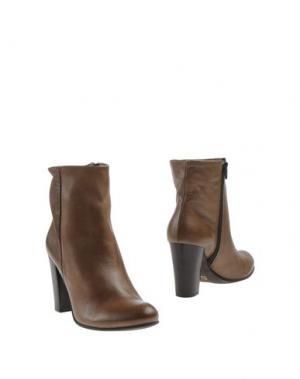 Полусапоги и высокие ботинки SCOOP. Цвет: хаки