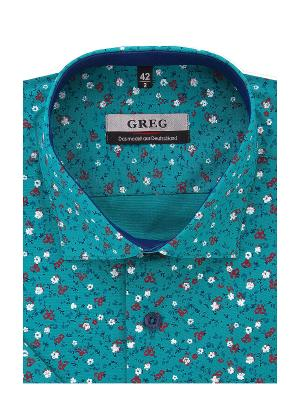 Рубашка GREG. Цвет: бирюзовый