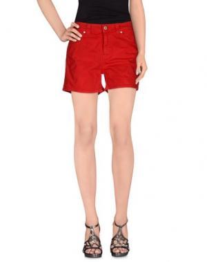 Джинсовые шорты DONDUP. Цвет: красный