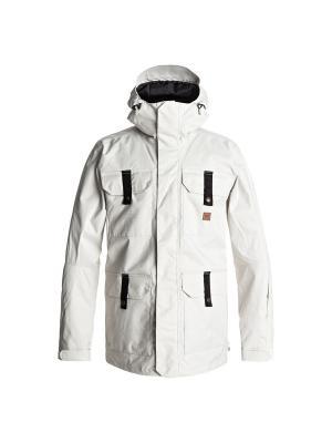 Куртка сноубордическая DC Shoes. Цвет: белый, светло-серый, серебристый