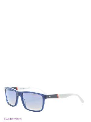 Солнцезащитные очки Tommy Hilfiger. Цвет: синий, белый