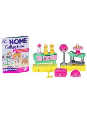 Игровой набоор для декора Happy Places Петкинс  Праздничный ужин у котят Moose. Цвет: розовый