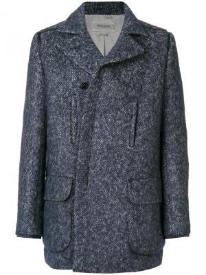 Пальто на пуговицах и молнии Rochas. Цвет: синий