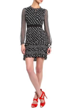 Платье DIANE VON FURSTENBERG. Цвет: черный, белый мелкий принт