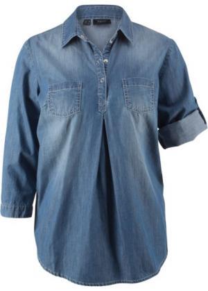Блузка для беременных (голубой выбеленный) bonprix. Цвет: голубой выбеленный