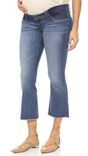 Укороченные расклешенные джинсы Lara для беременных DL1961. Цвет: фауна