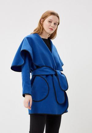 Полупальто Magwear. Цвет: синий