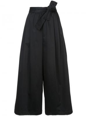 Укороченные расклешенные брюки Tome. Цвет: чёрный