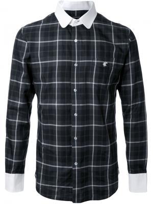 Рубашка в клетку Loveless. Цвет: чёрный